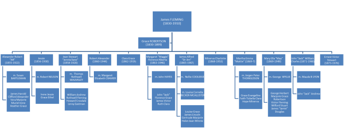 James Fleming family tree