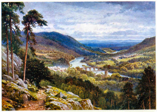 Dunkeld and Birnam from Craigiebarns, Perthshire by Sutton Palmer (Source: Bonnie Scotland )