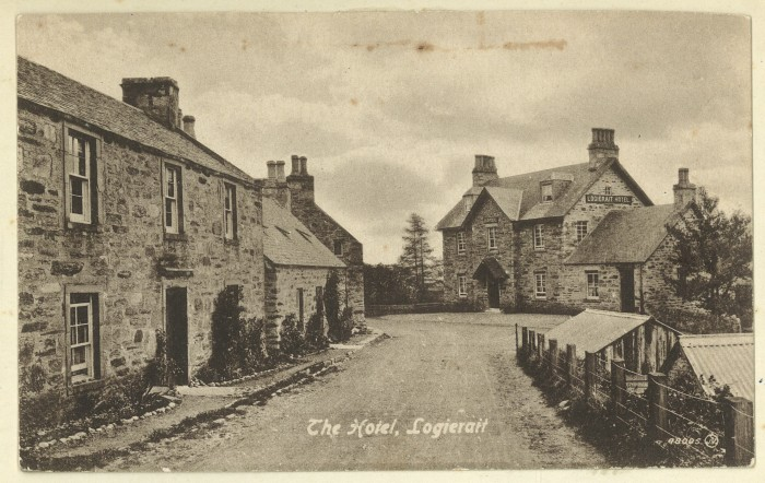 Logierait Hotel postcard, 1903