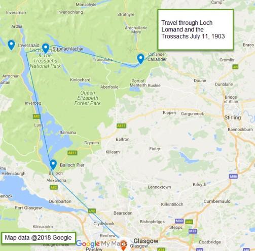 Google Map - Loch Lomond and Trossachs