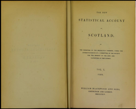 The New Statistical Account of Scotland Vol X. Perth (Source: Internet Archive)