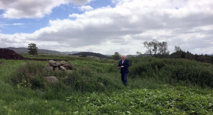 Eddie Thomson at site of Alexander Fleming's house