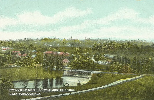 Jubilee Bridge at Owen Sound, 1910. Courtesy Toronto Public Library