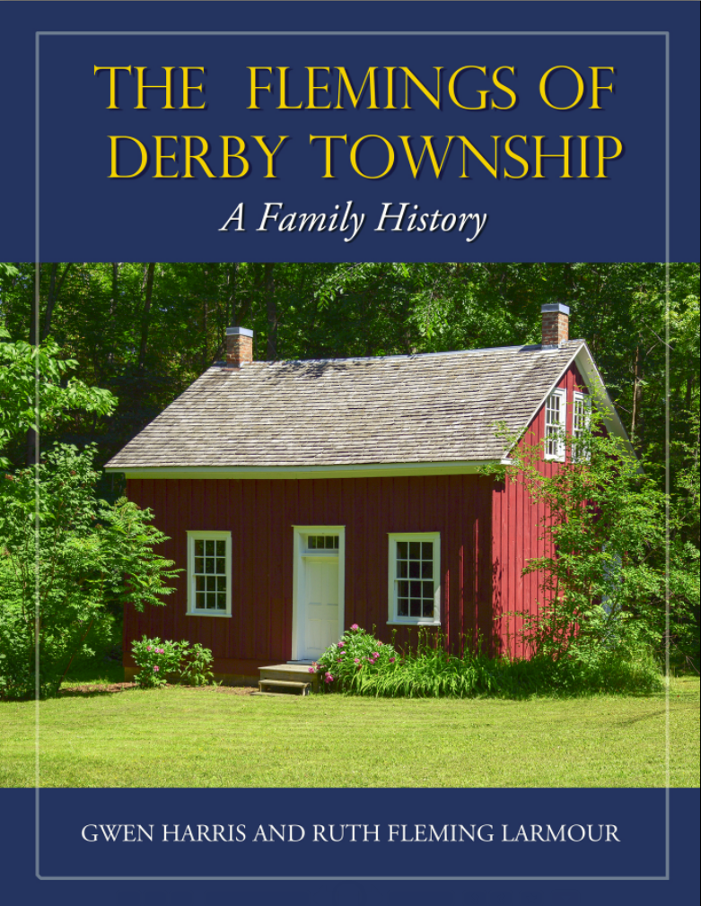 Proposed cover for book - The Flemings of Derby Township: A Family History