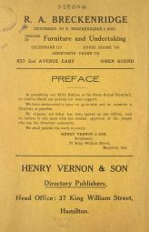 Page from Vernon's Directory for Owen Sound 1917