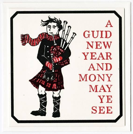 Scottish New Year Greetings.